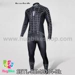 ชุดจักรยานแขนยาว Black Spiderman 14 สีดำ