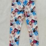 H&M : เลกกิ้ง พิมพ์ลายเจ้าหญิงเอลซ่า แอนนา สีฟ้า-ขาว size : 12-14y