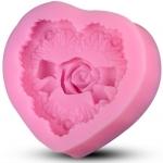 พิมพ์ขนม 3D หัวใจ กุหลาบคาด B193