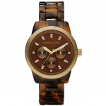นาฬิกาข้อมือ Michael Kors รุ่น MK5038 Michael Kors Jet Set Tortoise Shell Ladies Watch MK5038 Size 36 mm