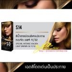 ดิ๊๊พโซ่ แฮร์ คัลเลอร์ S14 สีน้ำตาลอ่อนพิเศษประกายทองจัด เอสจี 9/32 (Special Intense Golden Light Brown SG 9/32)