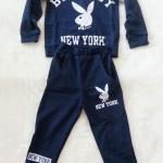 Carter's : Set เสื้อแขนยาว+กางเกงขายาว ลาย Blue Boy สีน้ำเงินเข้ม เนื้อผ้า นิ่ม ไม่หนามาก size 1y