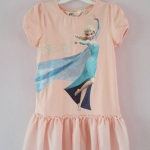 H&M : เดรสสกรีนลายเจ้าหญิงเอลซ่า สีชมพู size : 8-10y / 10-12y / 12-14y