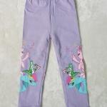 H&M : เลกกิ้ง สกรีนลายม้าโพนี่ ที่ขา สีม่วงอ่อน(งานป้ายผิดไซส์) size : 1-2y / 8-10y