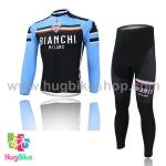 ชุดจักรยานแขนยาวทีม Bianchi 14 (04) สีฟ้าดำลาย (02)