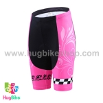 กางเกงจักรยานผู้หญิงขาสั้น CheJi 16 (06) สีชมพู ลายกระโหลก Recing is life
