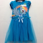 H&M : เดรสสกรีนลายม้าโพนี่ Rainbow Dash สีฟ้าเข้ม size : 8-10y