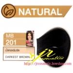 ครีมเปลี่ยนสีผม ดีแคช มาสเตอร์ แมส คัลเลอร์ครีม Dcash Master Mass Color Cream MB 201 น้ำตาลเข้มจัด (Darkest Brown) 50 ml.