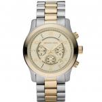 นาฬิกาข้อมือ Michael Kors รุ่น MK8098 Michael Kors Gold Dial and Two Tone Bracelet Watch MK8098 Size 45 mm