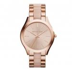 นาฬิกาข้อมือ Michael Kors รุ่น MK4294 Michael Kors Slim Runway Rose Dial Rose Gold-tone Ladies Watch MK4294 Size 42 mm