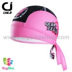 หมวกผ้าโพกศรีษะ CheJi 14 (11) สีดำชมพูลาย Devil Gear