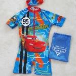 ชุดว่ายน้ำบอดี้สูทลาย Mcqueen สีฟ้า ซิปหน้า พร้อมหมวกและ ถุงผ้า Size : XS (3-4y) / S (4-5y) / L (6-7y) / XL (7-8y) / XXL (8-10y)
