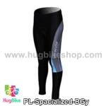 กางเกงจักรยานขายาวทีม Specialized สีฟ้าเทา
