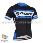 เสื้อจักรยานแขนสั้นทีม Giant 2016 (05) สีดำขาวน้ำเงิน