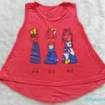 Gap kids : เสื้อกล้ามลาย เด็กหญิง สีแดงนะคะ ผ้านิ่ม เด้ง