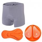 กางเกงจักรยาน Boxer VeoBike กางเกงสีเทา เป้าเจลสีส้ม