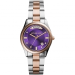 นาฬิกาข้อมือ Michael Kors MK6072 Michael Kors Colette Purple Dial Two-tone Ladies Watch