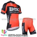 ชุดจักรยานแขนสั้นทีม BMC 14 (01) สีแดงดำ สั่งจอง (Pre-order)
