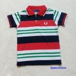 Fred Perry : เสื้อคอปก ลายริ้วแดง-กรม ผ้านิ่มค่ะ Size : 1-2y / 2-4y / 4-6y