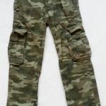 GAP : กางเกง cargo ขายาว ทรงขากระบอก สีเขียวทหาร size 5y
