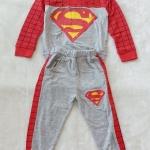 Carter's : Set เสื้อแขนยาว+กางเกงขายาว ลาย Superman สีเทา-แดง Size : 1y / 4y