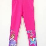 Disney : เลกกิ้ง ปลายขาสกรีนลายเจ้าหญิงโซเฟีย สีชมพู size 6 (5-7y)
