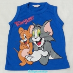 H&M : เสื้อกล้าม Tom&Jerry สีน้ำเงิน size : 2-4y / 6-8y