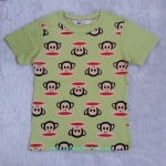 H&M : เสื้้อยืดสกรีนลายพอลแฟรงค์ สีเหลืองมะนาว size 4-6y / 8-10y