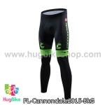 กางเกงจักรยานขายาวทีม Cannondale 15 สีดำเขียว สั่งจอง (Pre-order)