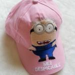 หมวก ลายมินเนียน สีชมพู