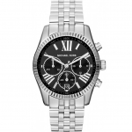 นาฬิกาข้อมือ Michael Kors รุ่น MK5708 Michael Kors Lexington Silver Chronom Roman Numerals Black Dial Watch MK5708 Size 38 mm