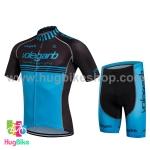 ชุดจักรยานแขนสั้น Volegarb 16 (05) สีดำฟ้า