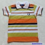 Fred Perry : เสื้อคอปก ลายริ้วเหลือง-ส้ม ผ้านิ่มค่ะ Size : 1-2y / 2-4y / 4-6y