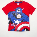Marvel : เสื้อยืด ลาย Captain America สีแดง Size : 9 ( 10-12y)