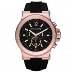 นาฬิกาข้อมือ Michael Kors MK8184 Michael Kors Dylan Chronograph Black Dial Black Rubber Men's