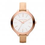 นาฬิกาข้อมือ Michael Kors รุ่น MK2284 Michael Kors Slim Runway Rose Gold-Tone Leather Ladies Watch MK2284 Size 42 mm