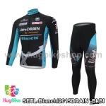 ชุดจักรยานแขนยาวทีม Bianchi 15 (04) DRAIN สีดำฟ้า
