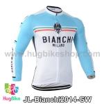 เสื้อจักรยานแขนยาวทีม Bianchi 14 สีเขียวขาว สั่งจอง (Pre-order)
