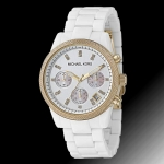 นาฬิกาข้อมือ Michael Kors รุ่น MK5189 Michael Kors Ceramic Chronograph Ladies White Watch MK5189 Size 36 mm