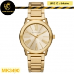 นาฬิกาข้อมือ Michael Kors MK3490 Michael Kors Hartman Gold-Tone Stainless Steel Ladies Watch