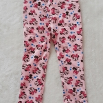 H&M : กางเกงขายาว สีชมพู ลายมินนี่เมาส์ โบว์สีชมพู size : 2 (2-3y) / 4 (4-5y) / 8 (6-8y)