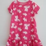 Carter's : ชุดนอน ผ้า cotton ยืด สีชมพู ลายแมว Size : 12m / 18m / 2T