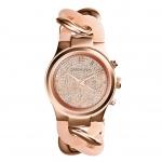 นาฬิกาข้อมือ Michael Kors MK4283 Michael Kors Runway Twist Rose Dial Rose Gold-tone Ladies Watch MK4283