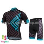 ชุดจักรยานแขนสั้น Volegarb 16 (06) สีดำฟ้าลาย