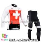 ชุดจักรยานแขนยาวทีม Assos 14 สีขาวแดง สั่งจอง (Pre-order)