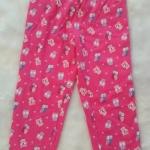 Tex : กางเกงขายาว ขาจั๊ม สีชมพูเข้ม Size : 2-3y