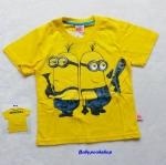 ME : เสื้อยืดสกรีน ลายมินเนียน สีเหลือง Size : L (8-10y)