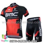 ชุดจักรยานแขนสั้นทีม BMC 15 (02) สีแดงดำ สั่งจอง (Pre-order)