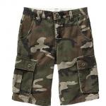 Old Navy : กางเกง รุ่น Boys Twill Cargo Shorts สีเขียว น้ำตาล ลายพราง Size : 6