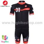 ชุดจักรยานแขนสั้นทีม 3T 15 (04) สีดำ สั่งจอง (Pre-order)